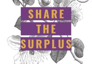 """Graphic that says """"Share the Surplus"""""""